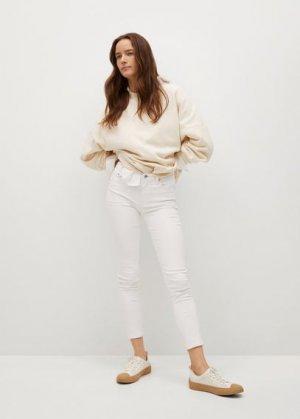 Укороченные джинсы скинни Isa - Mango. Цвет: белый