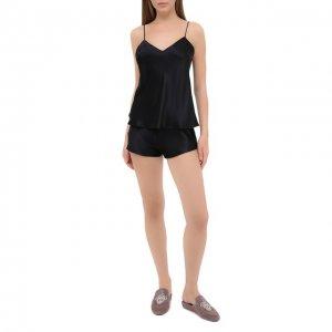 Шелковая пижама Simone Perele. Цвет: чёрный