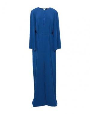 Длинное платье PAULE KA. Цвет: ярко-синий