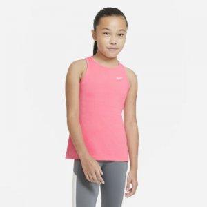 Майка для девочек школьного возраста Nike Pro - Розовый