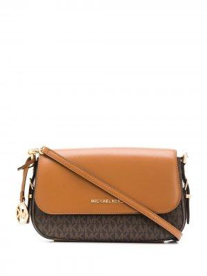 Большая сумка через плечо Bedford Legacy с логотипом Michael Kors. Цвет: коричневый