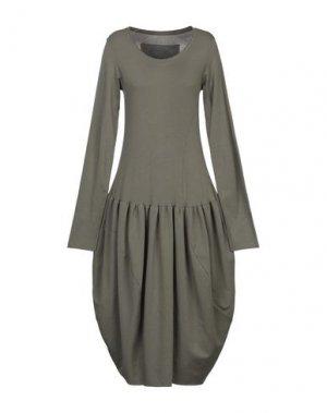 Платье до колена BLACK LABEL. Цвет: зеленый-милитари