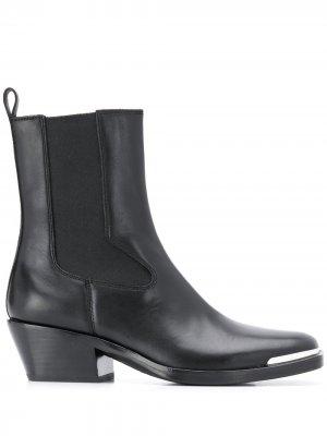 Square toe ankle boots Ash. Цвет: черный