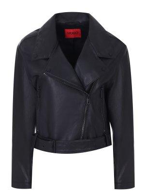 Куртка-косуха кожаная HUGO