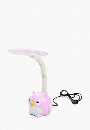 Светильник настольный Camelion Сова, 37х14х12 см. Цвет: розовый