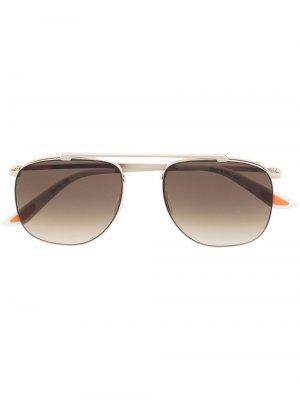 Солнцезащитные очки-авиаторы с эффектом градиента Christian Roth. Цвет: золотистый