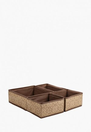 Комплект коробов Tete-a-Tete Набор коробок 4шт. Цвет: бежевый