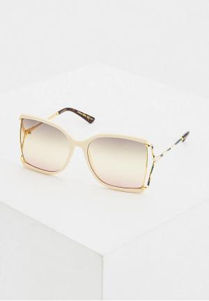 Очки солнцезащитные Gucci GG0592S 005. Цвет: бежевый