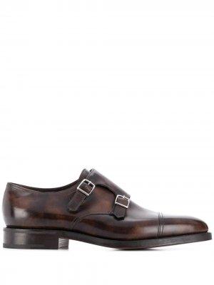 Туфли монки William John Lobb. Цвет: коричневый