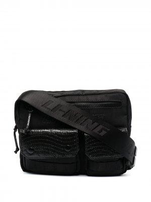 Поясная сумка с карманами Li-Ning. Цвет: черный