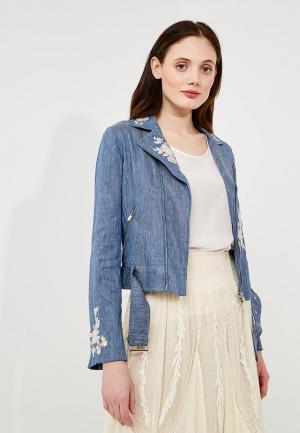 Куртка джинсовая Twin-Set Simona Barbieri. Цвет: синий