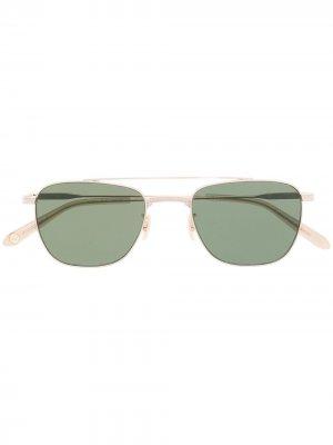 Солнцезащитные очки в квадратной оправе Garrett Leight. Цвет: золотистый