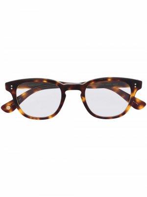 Square frame glasses Garrett Leight. Цвет: коричневый
