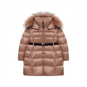 Пуховое пальто Freedomday. Цвет: розовый