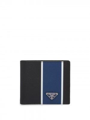 Бумажник в стиле колор-блок Prada. Цвет: синий