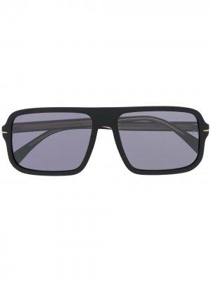 Солнцезащитные очки в массивной оправе Eyewear by David Beckham. Цвет: черный