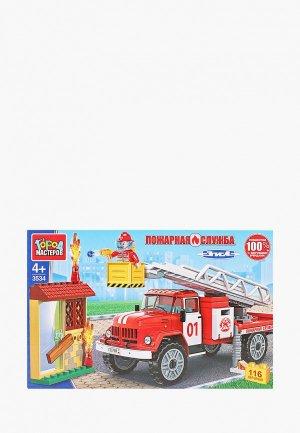 Конструктор Город Мастеров «Пожарная машина ЗИЛ», 116 деталей. Цвет: разноцветный