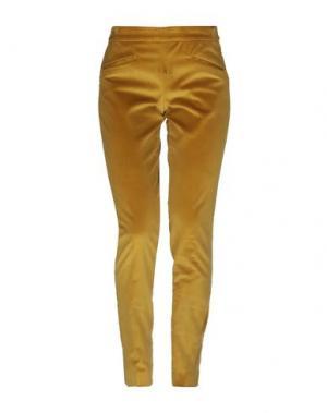 Повседневные брюки PT Torino. Цвет: охра