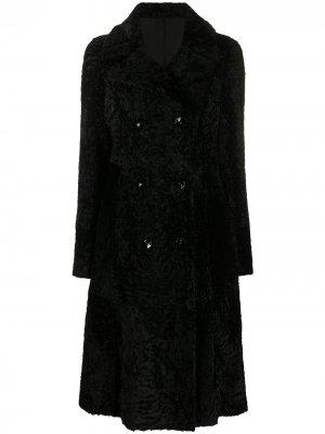 Двустороннее пальто Drome. Цвет: черный