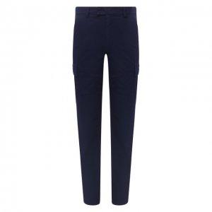 Хлопковые брюки-карго Aspesi. Цвет: синий