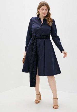 Платье Madeleine. Цвет: синий