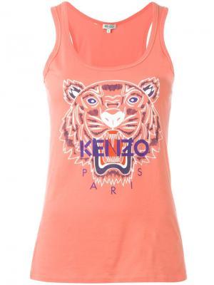 Майка Tiger Kenzo. Цвет: розовый