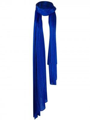 Объемный плиссированный шарф Pleats Please Issey Miyake. Цвет: синий