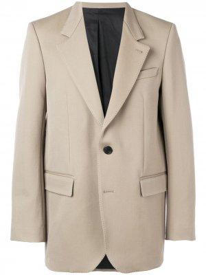 Пиджак на двух пуговицах AMI Paris. Цвет: нейтральные цвета