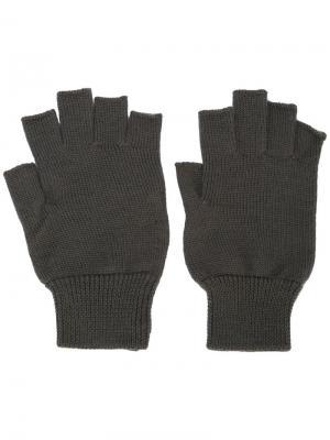 Облегающие перчатки без пальцев Rick Owens. Цвет: серый