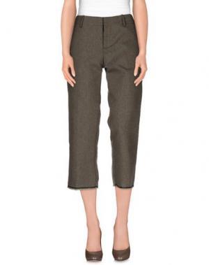 Повседневные брюки LABORATORIO. Цвет: хаки