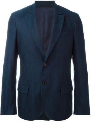 Two-button fitted blazer Ermanno Scervino. Цвет: синий