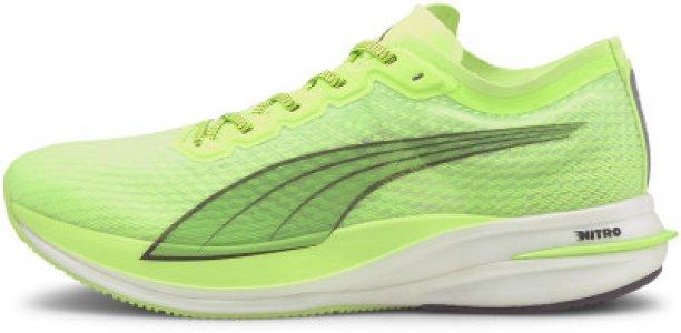 Кроссовки мужские Deviate Nitro, размер 40 Puma. Цвет: зеленый