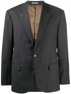 Однобортный пиджак Brunello Cucinelli. Цвет: серый