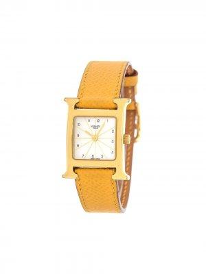 Наручные часы H Heure HH1.201 pre-owned 21 мм Hermès. Цвет: желтый