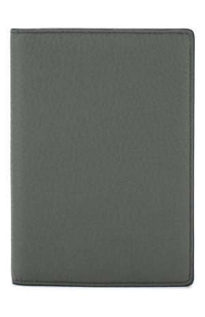 Кожаная обложка для паспорта Panama Smythson. Цвет: темно-серый