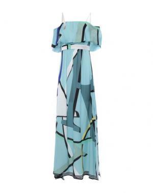 Длинное платье ANNARITA N. Цвет: светло-зеленый