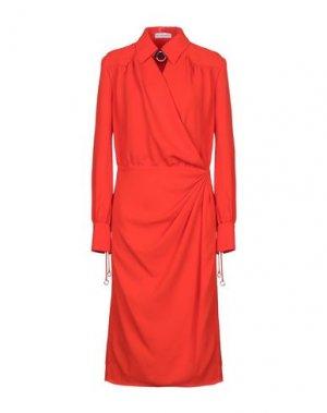 Платье длиной 3/4 ALTUZARRA. Цвет: оранжевый