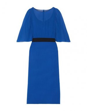 Платье длиной 3/4 AKRIS. Цвет: синий