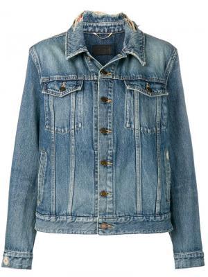 Джинсовая куртка с необработанным воротником Saint Laurent