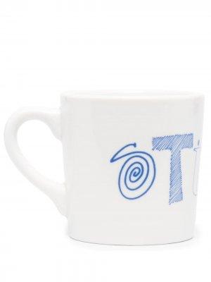 Кружка с логотипом Stussy. Цвет: белый