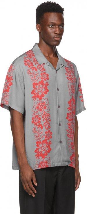 Grey Floral Pattern Shirt Stüssy. Цвет: grey