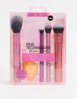 Набор кистей для макияжа Everyday Essentials (общая стоимость: £39)-Бесцветный Real Techniques