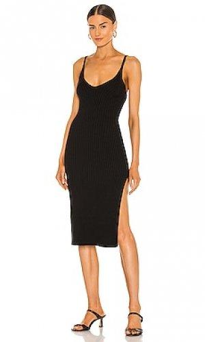 Платье миди mariah Line & Dot. Цвет: черный