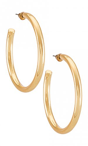 Серьги-кольца annie Casa Clara. Цвет: металлический золотой
