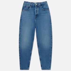 Женские джинсы Mom Ultra High Rise Tapered Tommy Jeans. Цвет: синий