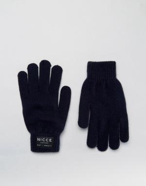 Темно-синие перчатки Nicce London. Цвет: темно-синий