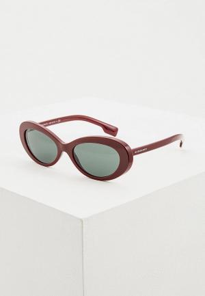 Очки солнцезащитные Burberry BE4278 340371. Цвет: бордовый