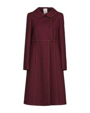 Пальто MANUELA CONTI. Цвет: красно-коричневый