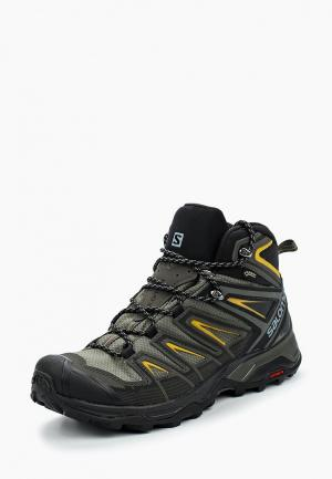 Ботинки трекинговые Salomon X ULTRA MID 3 GTX®. Цвет: хаки