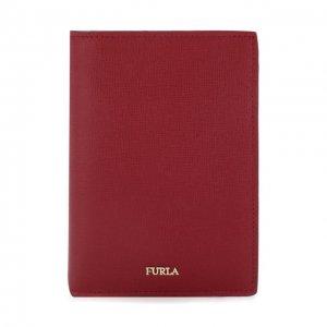 Кожаная обложка для паспорта Babylon Furla. Цвет: красный